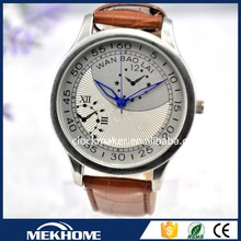 2015 small MOQ stainless steel back watch water resistant