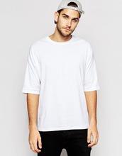 oversized white t shirt with half sleeve