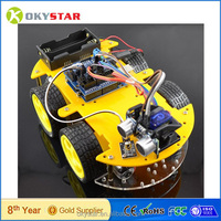 4WD Smart car Bluetooth Infrared obstacle avoidance Multifunctional Smart Robot yoy diy rc Car Kit