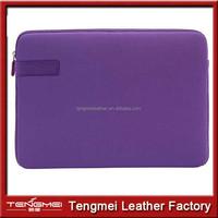 zipper PU laptop case warranty quality, portable laptop case business style