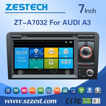 ZESTECH car gps navigation system for AUDI A3(Unilateral button) car accessories with DVD +3G+BLUTOOTH +AM/FM+USB/SD +GPS
