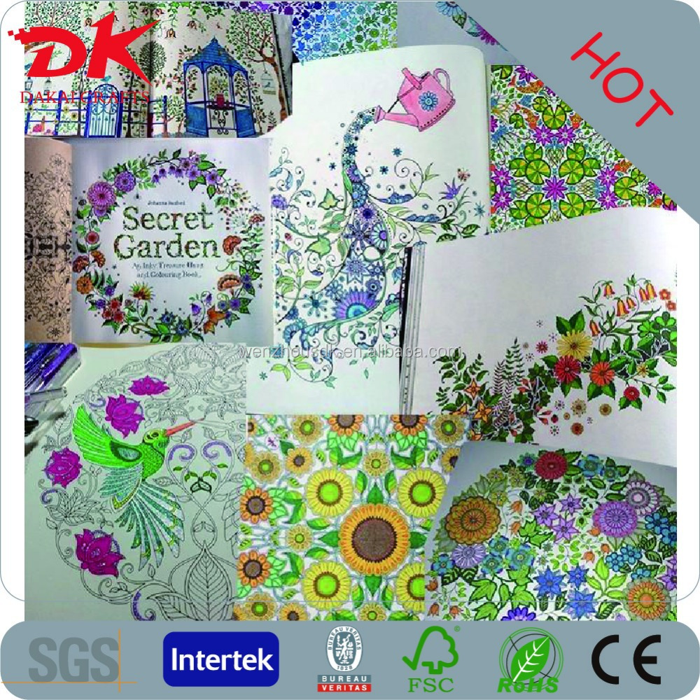 World Crazy Popular Adults Secret Garden Coloring Book In Bulk