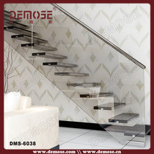 Floating stair design steel glass structure
