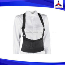 Adjustable tight lumbar support double pull waist brace belt with spring support