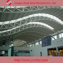 Steel Truss arch roof for railway station