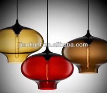 Italy style blown modern glass pendant lamp for restaurant