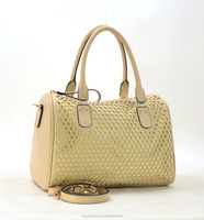 2016 LADIES FASHION PERFORATED MATERIAL BOWLING BAG WITH HANDLE METAL ATTACHED AND A REMOVABLE LONG SHOULDER STRAP BAG