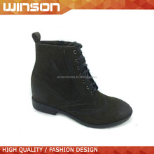 Fashion hidden wedge high heel lace-up women ankle boot