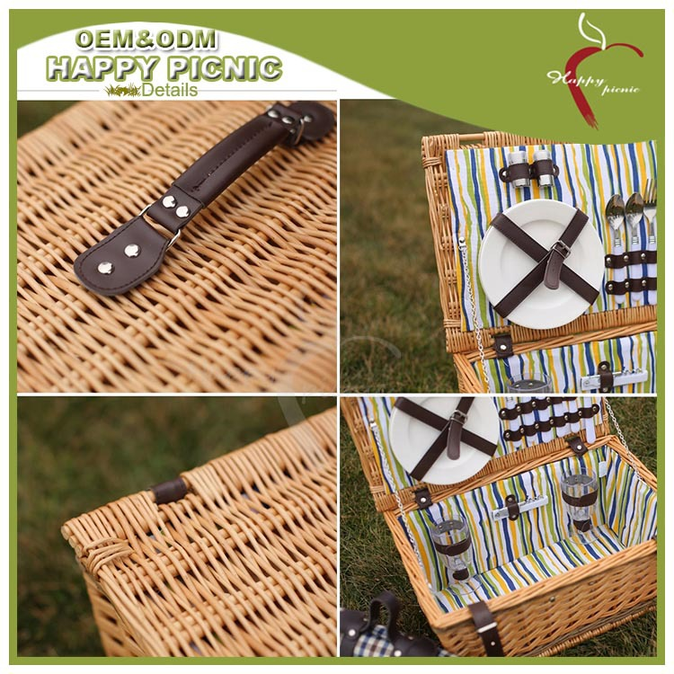 Cheap Picnic Basket For 4 : Wholesale rectangular grey willow wicker picnic basket for