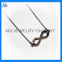 gun metal black gold infinity necklace wholesale