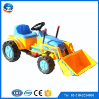 2015 wholesale kids electric toy car to drive child bulldozer/plastic RC electric motor toy car for big kids to drive