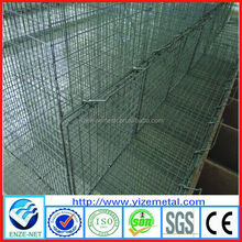 Professional animal cage manufacturer, galvanized mink wire mesh cage , wire mesh mink cage for sale ( ISO9001 Certificated )