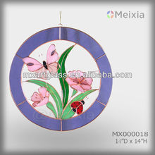 MX100018 tiffany style stained glass butterfly sun catcher