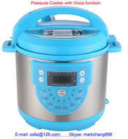 2015 multi function fissler pressure cooker with voice function(FX60D-BF)