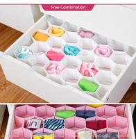 factory price high quality plastic underwear sock closet organizer