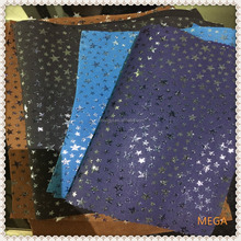 COLORFUL SUEDE STARS LEATHER,FASHION COLOR LEATHER FOR SHOES & BAGS,MIX COLOR LEATHER BAGS FASHION