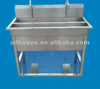 Pedal-type stainless steel hand washing trough