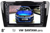 "(for VW SANTANA (2013)) 8"" car DVD GPS player for VW car, with TV,radio, bluetooth, 3G WCDMA"