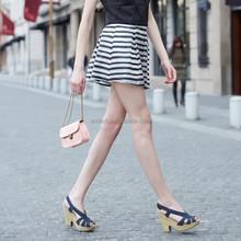 HJQ-C4025 Veri Gude Summer latest striped skirts fashion ladies pleated A-line short skirt