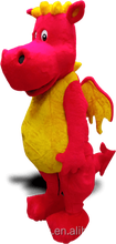 Red Dragon Mascot with wings