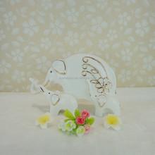 custom popular gold plated elephant design ceramic christmas hanging ornament