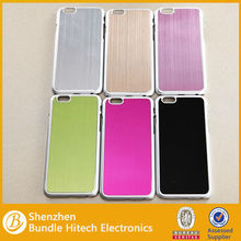 2014 PC wire drawing design for iphone 6,pc case for iphone 6