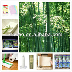 Natural Bamboo Fiber Used For Cleaning Wipes