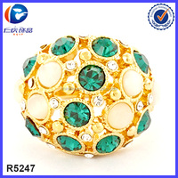 Beautiful islamic dress accessory alibaba in russian bling bling imitation jewelry gemstone gold ring