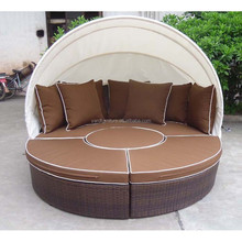 KD rattan round bed / Rattan sun bed with canopy