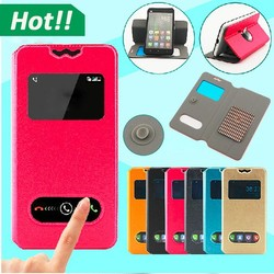 360 rotating Flip PU Leather Sucker Stand 4 5inch Universal Phone Case for Infocus M2