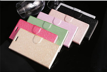 2015 hot selling folding PU leather filp cover for HTC E9 plus case with Holder