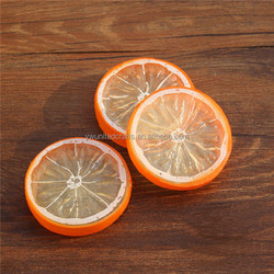 2016 wholesale artificial Lemon slices Lifelike Decorative Artificial Plastic Fake fruit