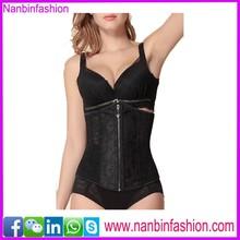 new style steel bone zipper black sxxxl sexy leather corset