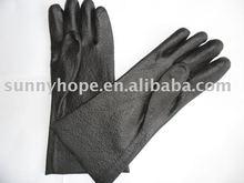 pvc negro cruce guante (trabajo pesado)