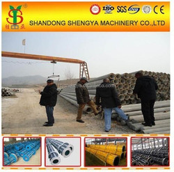 Shengya prestressed concrete electric pole making mould prices, reinforced cement spun pole/pile moulds