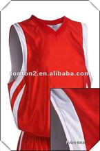 Customized Sublimation Hot Red Basketball Tops