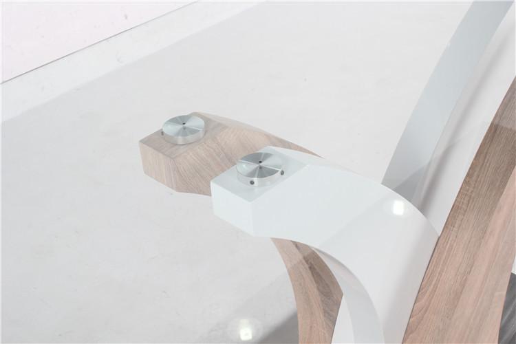 bases de madera muebles mesa comedor de cristal y sillas para comedor