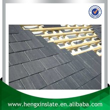 China Factory Direct Sales Cheap 50*25*0.5cm Large Natural Rectangle Dark Black Slate For Roofing Prices