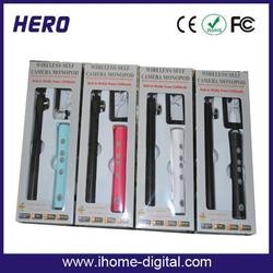 2014 fashional power bank selfie stick with phone holder