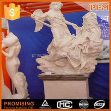 100% hand carve outdoor human and bear garden decorations
