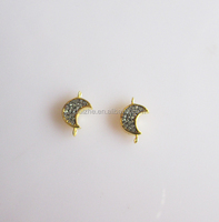 high quality 925 sterling silver charm tony gold moon charms