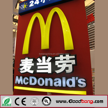 acrylic led sign boards for advertising/led outdoor advertising board/led glow sign boards