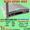 FTTH GPON ONU WiFi VoIP Router Gateway with 4FE+2FXS+WiFi