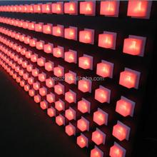 Диско ди-джея декор dmx площадь из светодиодов точечные светильники rgb16x16 из светодиодов матрица