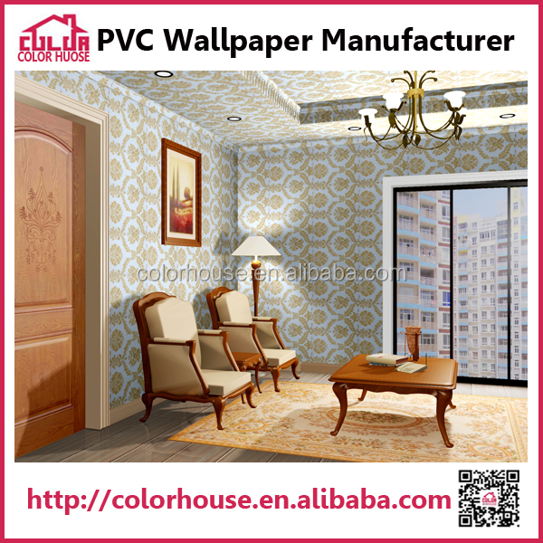 wholesale wallpaper heavy embossed vinyl wallpaper indoor