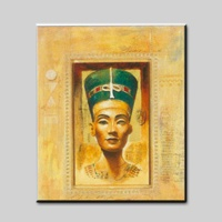 Simple design high quality pure hand-painted Egyptian style figure painting home decorative painting
