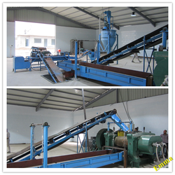 Best price rubber powder recycling line / used tyre recycling