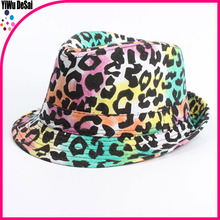 Europe and the United States the new children's hat Leopard grain color comfortable Children's jazz cap hat