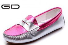 fashion women flats shoes solid sofe rubber loafer fox shiny surface shoes women
