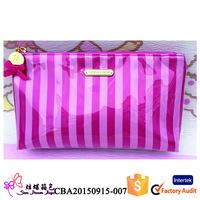 Women's Clear PVC Slide Zippered Toiletry Bag Transparent